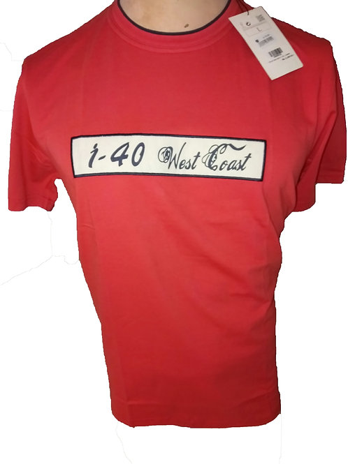 I-40 MEN'S COTTON ROUND NECK EMBROIDED T-SHIRTS