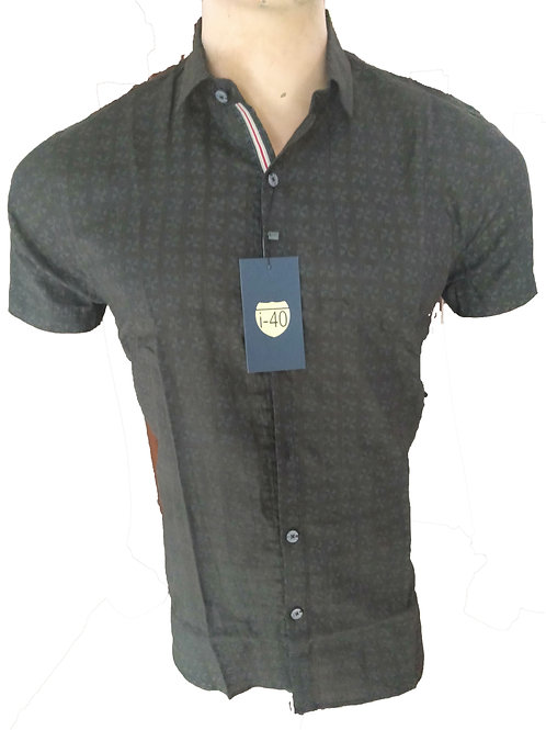 TOP QUALITY LINEN STYLE FORMAL PRINTED SHIRT