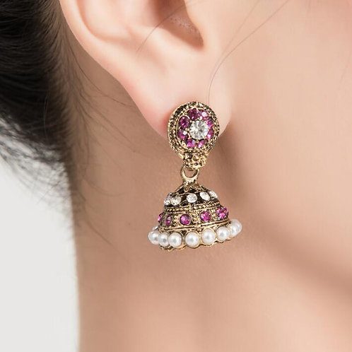 India Pakistan Style Earrings Girl Dance Accessory Woman Bellydance Performance