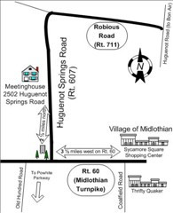 Rough directions to the Meetinghouse