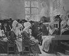 Early Quakers in worship
