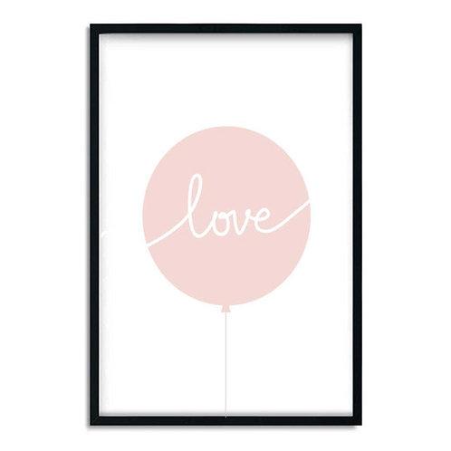 'LOVE PINK BALLOON' PRINT