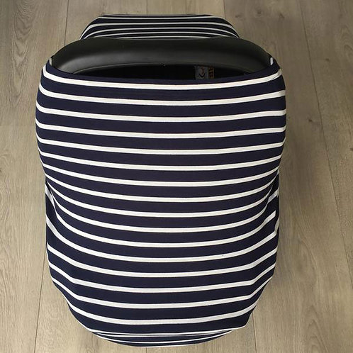 NUMOO MULTI PURPOSE COVER- NAVY AND WHITE STRIPE