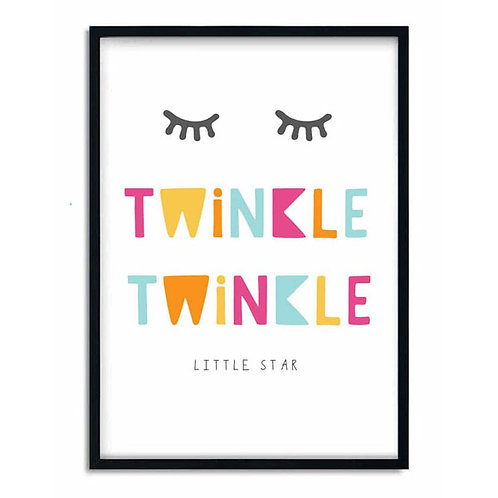 'TWINKLE TWINKLE LITTLE STAR' PRINT