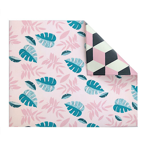 PINK LEAF GEO REVERSIBLE PLAYMAT