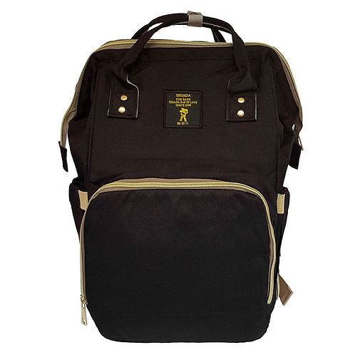 BACKPACK NAPPY BAG BLACK