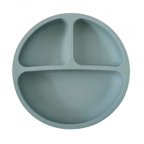 SILICONE SUCTION PLATE- SEA BLUE