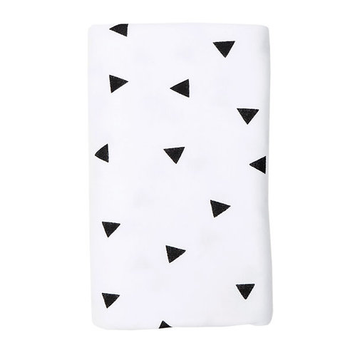 BLACK TRIANGLE STRETCH COTTON BLANKET
