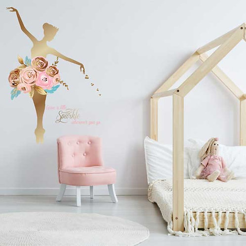 BALLERINA SPARKLE WALL DECAL