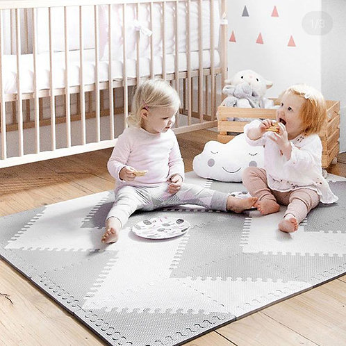FOAM PLAYMAT- GREY & WHITE