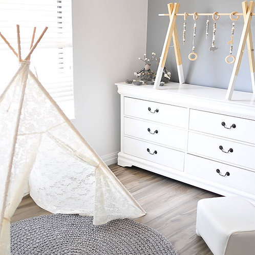 WHITE LACE TEEPEE TENT