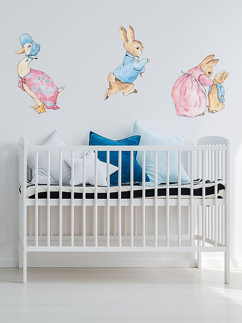 PETER RABBIT AND FRIENDS WALL VINYL