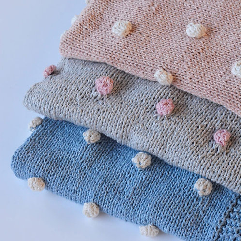 BABY ECO COTTON 'BOBBLE BLANKET'
