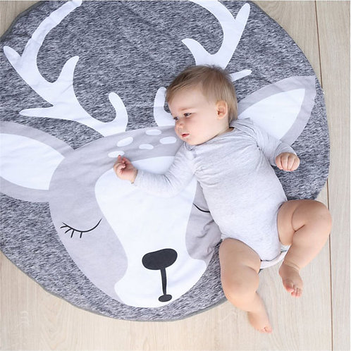 DEER ROUND PLAYMAT