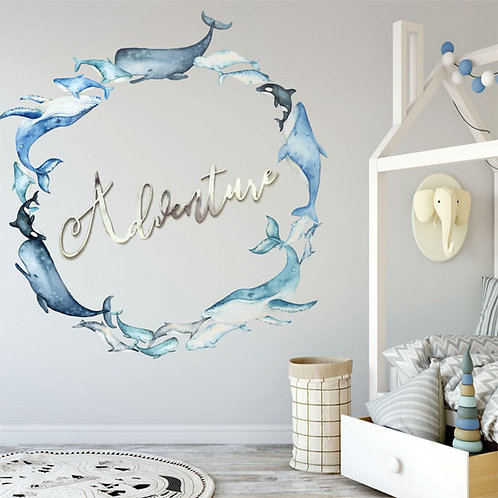 'A WHALE OF A TIME' WALL DECAL