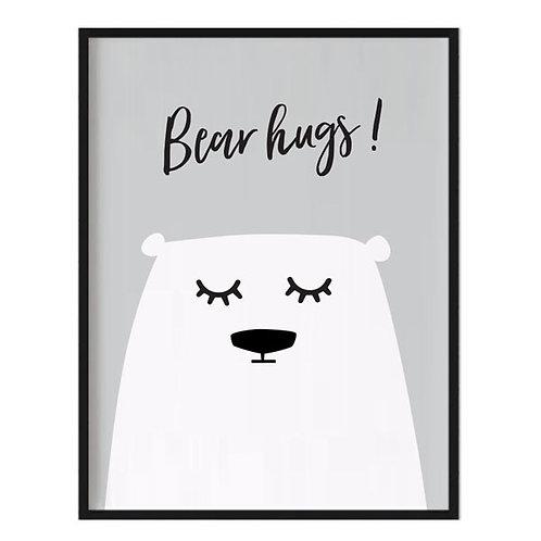 'BEAR HUGS' PRINT