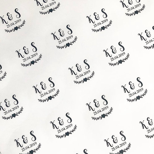 Monogram Clear Circle Stickers