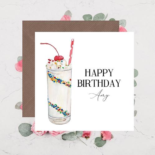 Happy Birthday Milkshake