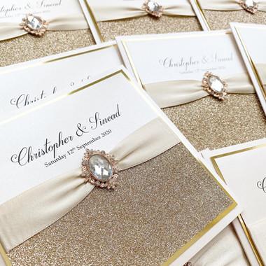 Champagne Gold Wedding Invitation
