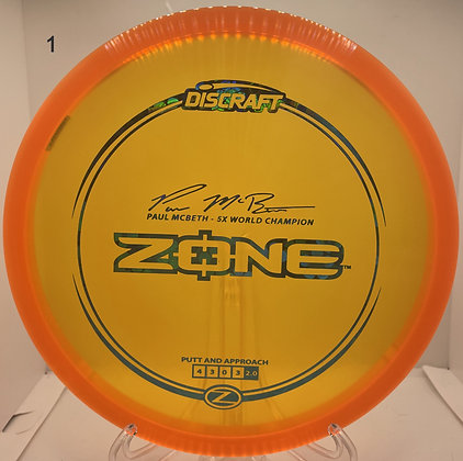 Zone Z Line Paul McBeth Sig.
