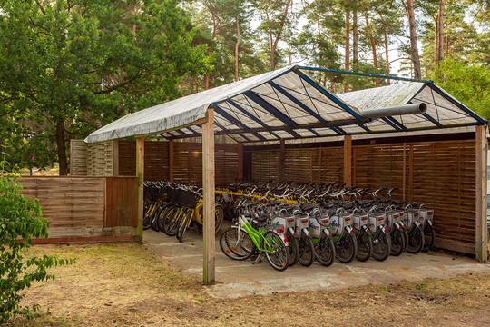 Unsere Fahrrad-Leihstation