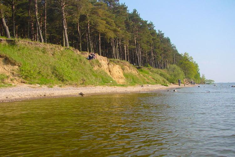 Auf dieser Steilküste liegt der Campingplatz