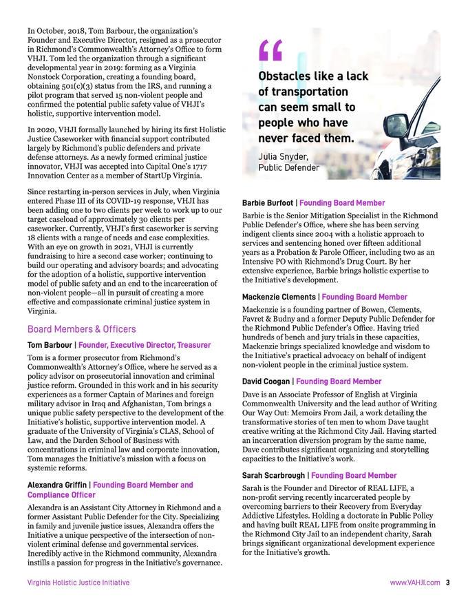 VHJI Donor Prospectus Pg. 6 of 16