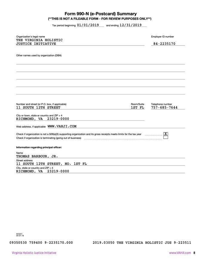 VHJI Donor Prospectus Pg. 11 of 16