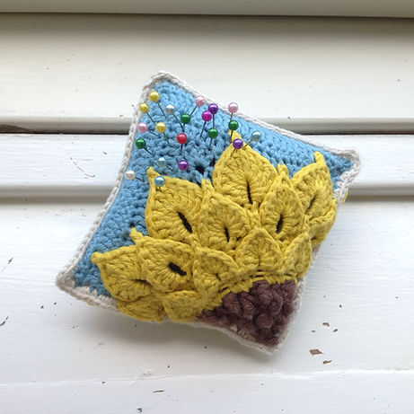 Quarter Sunflower Pincushion