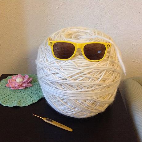Over 1km of yarn frogged