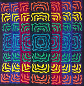 Rainbow Sunburst Blanket