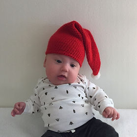 Santa's Baby Elf Hat