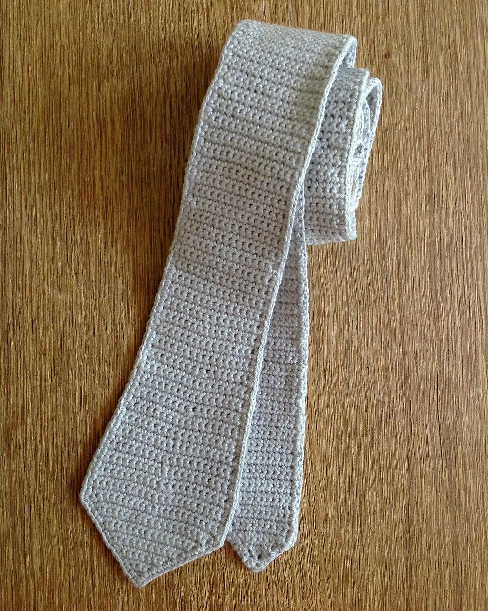 crocheted skinny tie