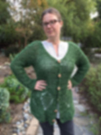 Falling Leaves plus-sized Cardigan