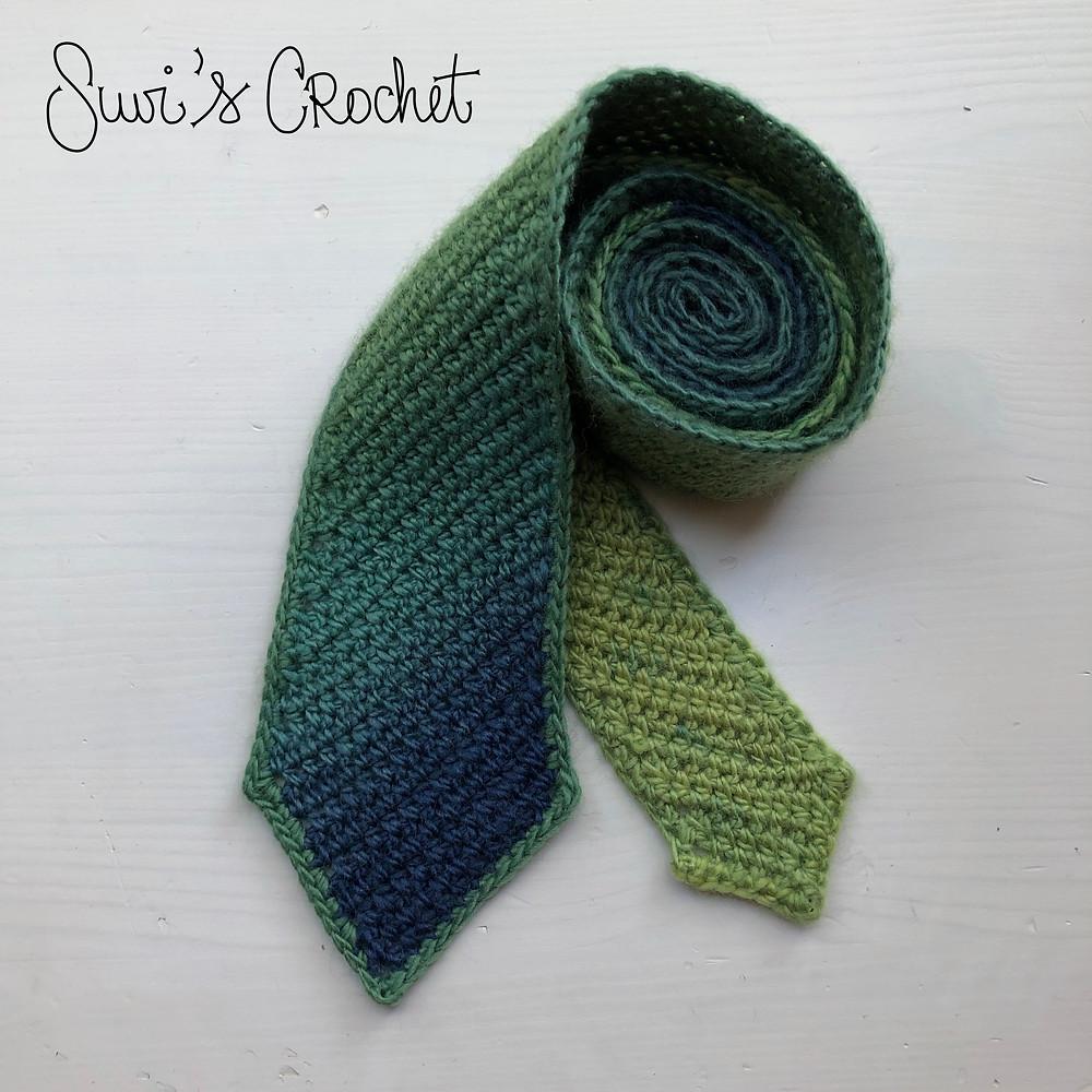 Diagonal Stripe Necktie Free Crochet Pattern