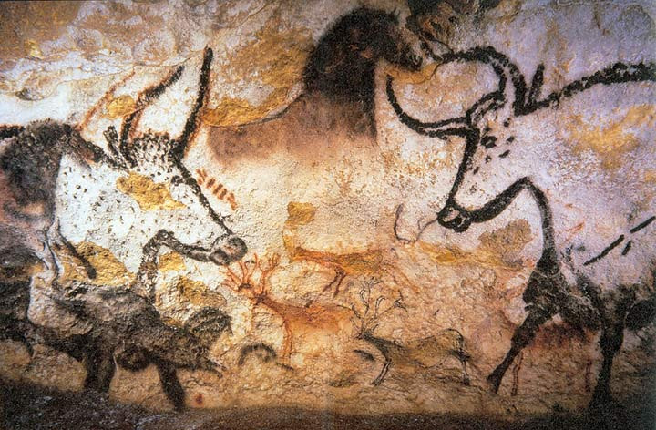 The Caves at Lascaux, where prehistoric man descended into earth's womb to be re-born a warrior