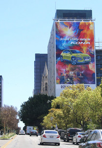 For Kona launch, our target was to aim for the young gen but also to reach the whole Korean community. Our creative look and feel ignited with energetic colors would maximize exposure to Korean communities. The colorful scheme brought the inspiration to create a giant wallscape on Wilshire Blvd. in the center of Koreatown to  appeal to potential buyers.        / Campaign conducted @ URI Global