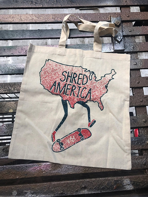 Shred America - Kickflip - Tote Bag