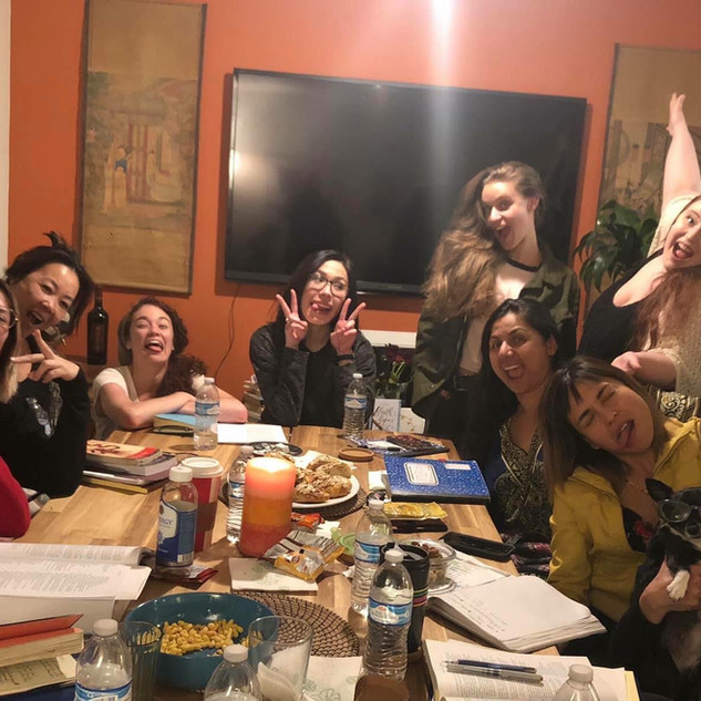 Table read for the first Women Of Shakespeare Showcase