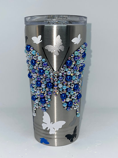 Butterfly Stainless Steel Wine Tumbler