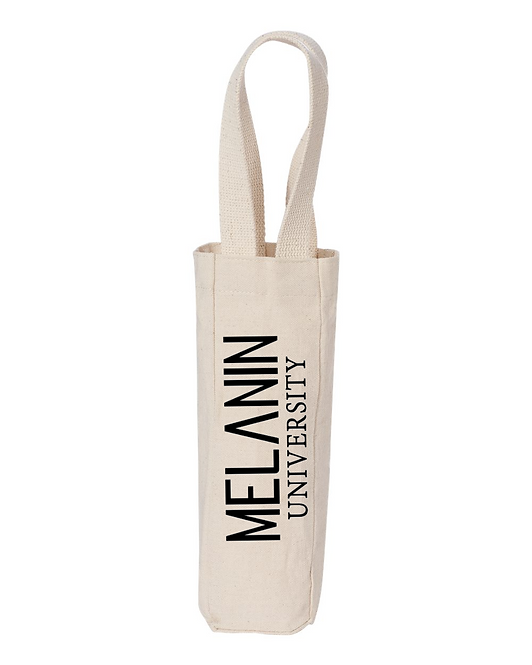 MELANIN UNIVERSITY: Wine Bottle Tote