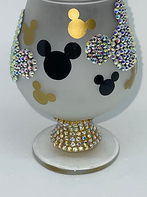Mickey Mouse Frosted Brandy Snifter