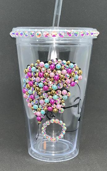 Original Diva Bling Plastic Tumbler