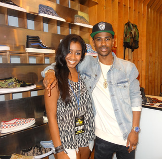 Host Tyler Abron of Hip Hop Real Estate Interviews Big Sean Fans at Concepts in Harvard Square, Camb