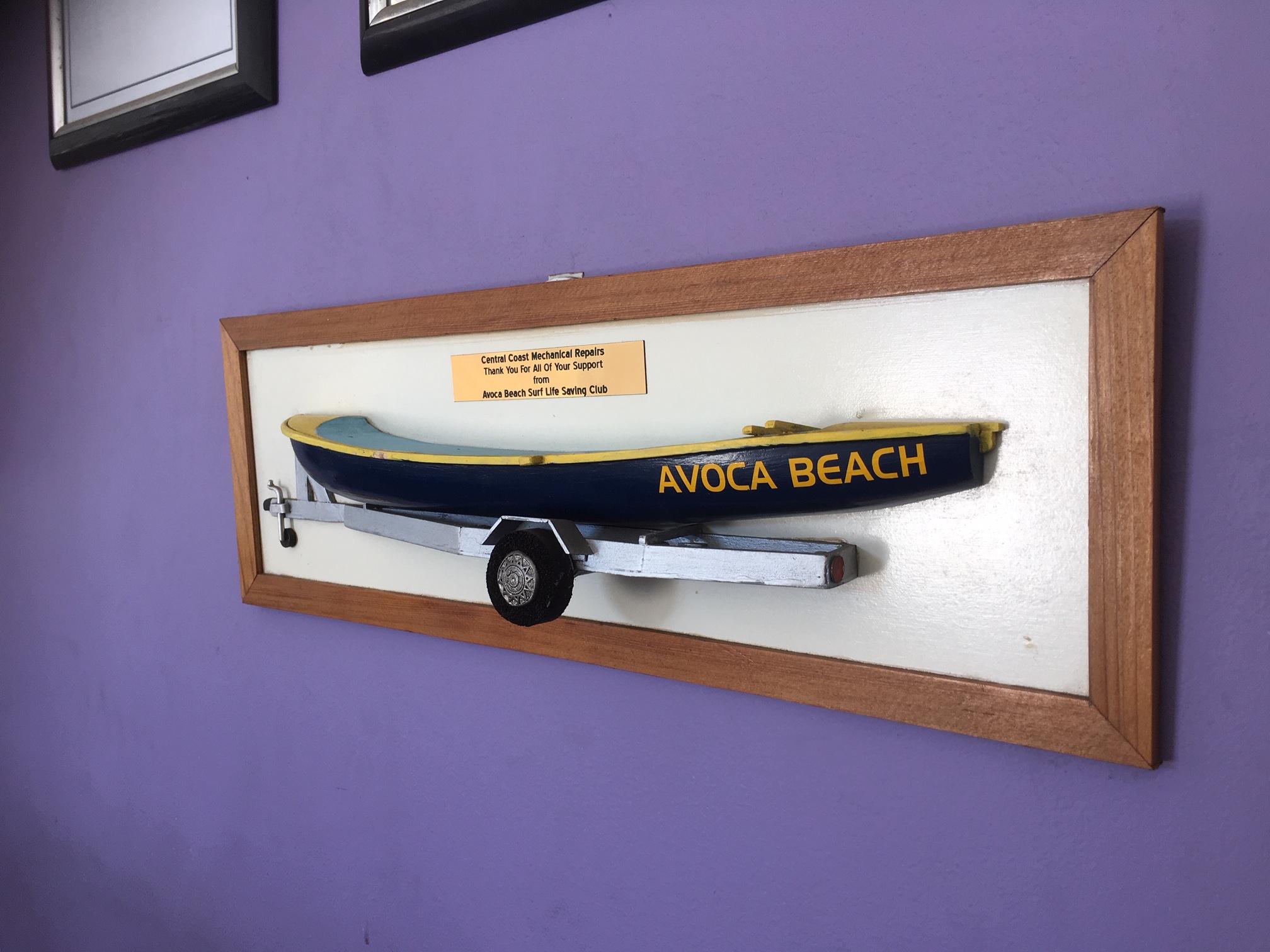 Sponsor boat and trailer