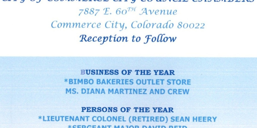 CCBPA BUSINESS, PERSON AND VOLUNTEER OF THE YEAR AWARDS AT CITY COUNCIL