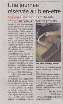Journée Mondiale du Bien-être 2016 Montpellier