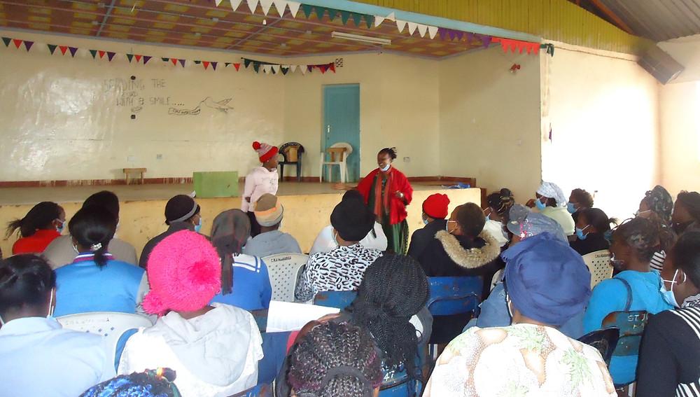 Susan during a session in Kiambu