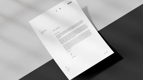 XO EDGE Letterhead