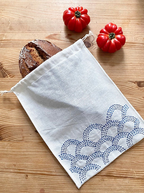 Linen bread bag - organic linen